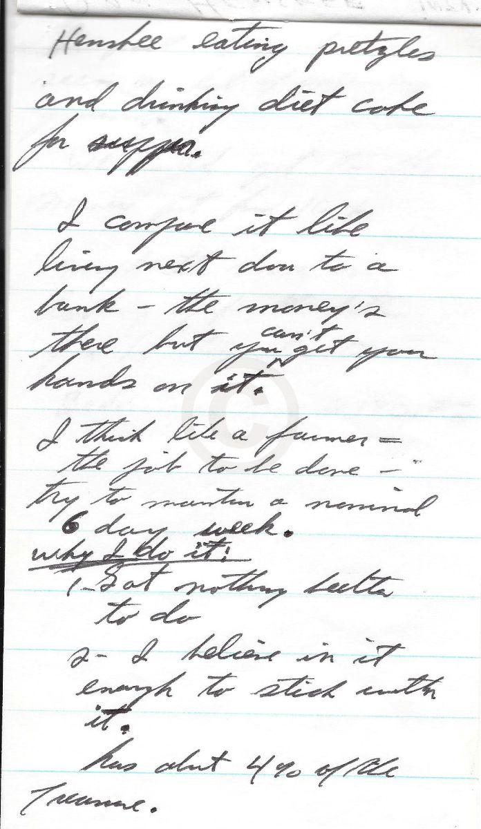 oak island nova scotia interview notes