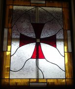 Stained Glass Templar Knights Cross
