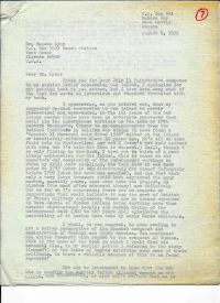 Letter discussing the Spanish connection  p1