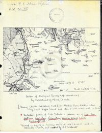 Geological survey map of Oak Island by Dept. of Mines