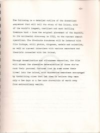 The Oak Island Enigma: A Docudrama Treatment, 57 pages (scan of first page)