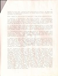 Letter from O'Connor to Kaplan posing ideas on the type of documentary, second page
