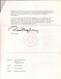 Letter from Kaplan to O'Connor suggesting how to make the documentary, third page