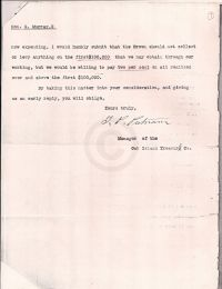 Letter discussing Crown collections p2