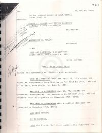 Final order after Triton-Nolan trial (61 pages) - first page scanned