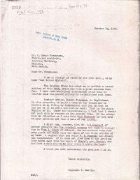 Letter mentioning his book and other people who have information
