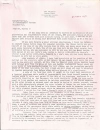 Letter of Cmdr. Harris correcting R.V. Harris' mistake and posing his own theory p1
