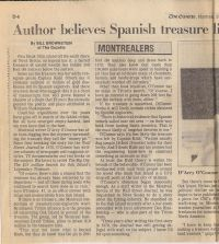 Montreal Gazette: Author believes Spanish treasure lies beneath booby-trapped island, part 1