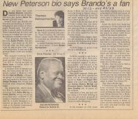 Article on Big Dig book next to article on Oscar Peterson
