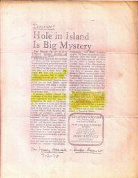 The Sunday Advocate: Hole in Island Is Big Mystery