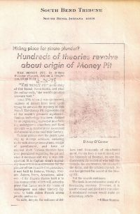 South Bend Tribune: Hundreds of theories revolve about origin of Money Pit