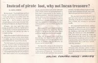 Halifax Chronicle Herald: Instead of pirate loot, why not Incan Treasure?