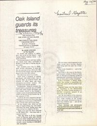 Montreal Gazette: Oak Island guards its treasures