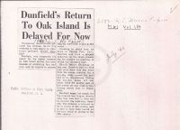 Halifax Chronicle Herald: Dunfield's Return To Oak Island Is Delayed For Now