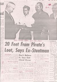 Mail-Star: 20 Feet From Pirate's Loot, Says Ex-Stuntman