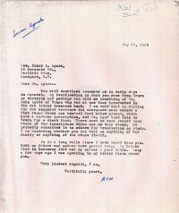 Letter asking for information about Dr. John Lynds