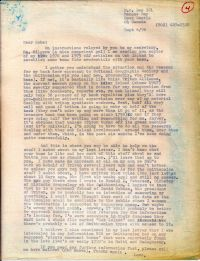 Letter from O'Connor explaining his approach to the National Geographic Society