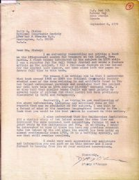 Letter requesting confirmation of information held by the National Geographic Society