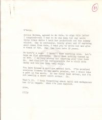 Small typed note attached to American Geographical Society letter