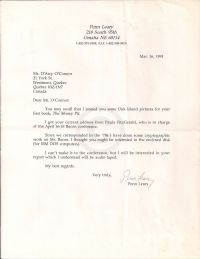 Letter discussing loaned pictures and update on Francis Bacon information