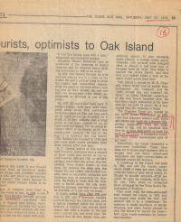 Globe & Mail: Stories of treasures lost bring tourists, optimists to Oak Island, part 2