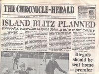 Chronicle-Herald: Oak Island Blitz Planned, part 1