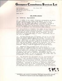 Confidential letter discussing Oak Island Project p1 (attached to June 11 1990 memorandum)