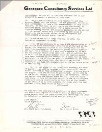 Confidential letter discussing Oak Island Project p3 (attached to June 11 1990 memorandum)
