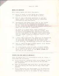 Notes re Geospace + Update for the sake of emphasis (attached to June 11 1990 memorandum)