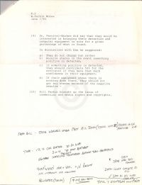 Notes re conversations with Bill Parkin from May 30 to June 6 chonologically p2 (attached to June 11 1990 mem.)