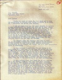 Letter mentioning Chappell destroying theory report p1